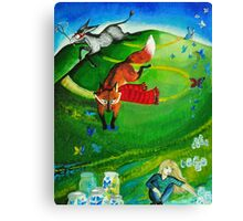 butterfly hunt Canvas Print