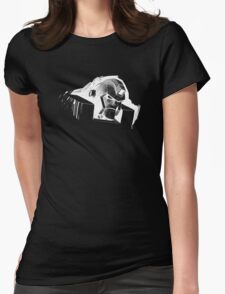 Angry Robot White Womens Fitted T-Shirt