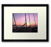 MASTS AT SUNSET Framed Print