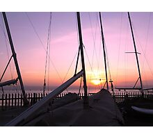 MASTS AT SUNSET Photographic Print