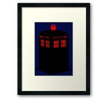 Evil TARDIS Framed Print