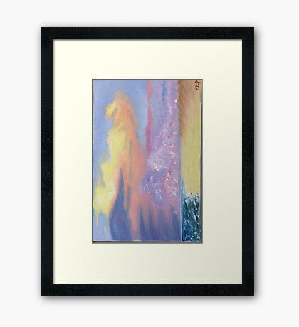 Pamlico Sound Dune Sunset Framed Print