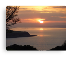 Winter Sunset On Inch Island Canvas Print