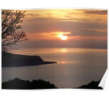 Winter Sunset On Inch Island Poster
