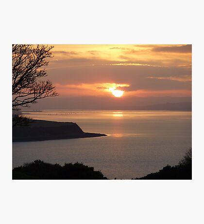 Winter Sunset On Inch Island Photographic Print