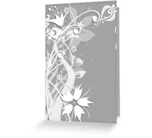 White Flower Formal Greeting Card