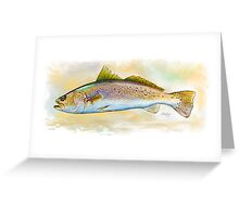 Speckled Trout, Spotted Trout Illustration Greeting Card