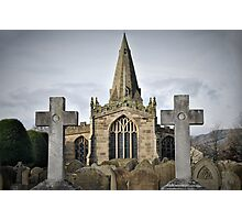The Parish Church of St Peter at Hope, Derbyshire, England. Photographic Print