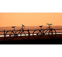 sunset saddles Photographic Print