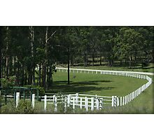 The white fence Photographic Print