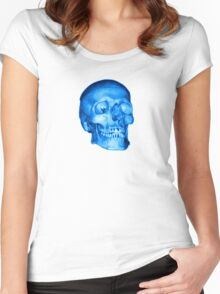Blue Skull Women's Fitted Scoop T-Shirt