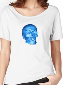Blue Skull Women's Relaxed Fit T-Shirt