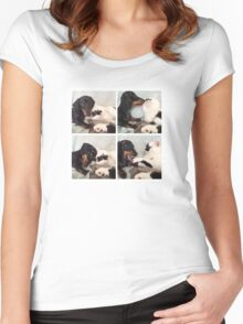 Friends Furrever - Dachshund Sausage Dog Women's Fitted Scoop T-Shirt