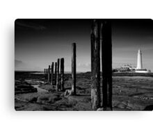 St Mary's Lighthouse B&W Canvas Print