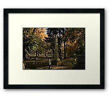 The Historical Graveyard Framed Print