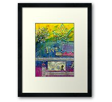 Believe in LIVING Framed Print