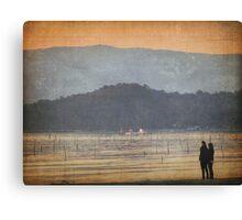 Sharing a sunset Canvas Print