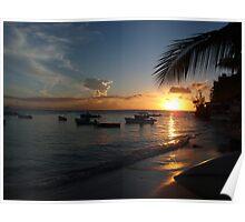 Barbados sunset1 Poster