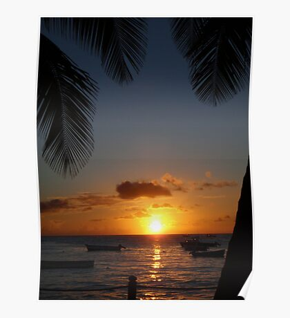Barbados sunset3 Poster