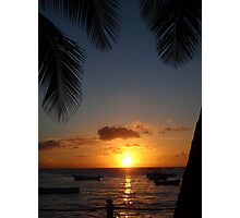 Barbados sunset3 Photographic Print