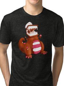 Ice Cream Dinosaur Tri-blend T-Shirt