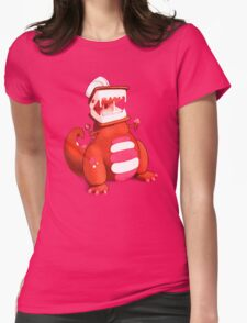 Ice Cream Dinosaur Womens Fitted T-Shirt