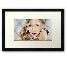 SNSD Taeyeon Framed Print