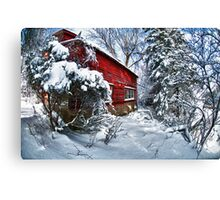 Above the Dorr Farm in Black River NY  Abandoned! Canvas Print