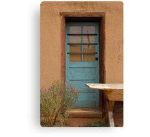The Blue Door ~ Mexican Adobe Building Canvas Print