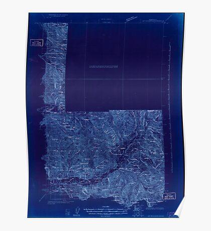 USGS Topo Map Washington State WA Mt Rainier 242668 1924 96000 Inverted Poster