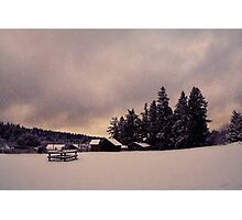 And all the land is mantled with snow   Photographic Print