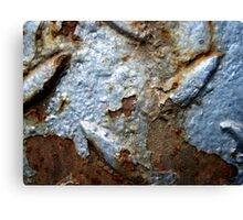 Blue and oxidized Canvas Print