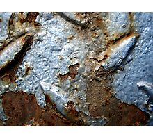 Blue and oxidized Photographic Print