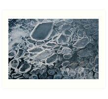 Icy Blobs Art Print