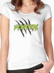 MONSTERS MERCHANDISE ORIGINAL GREEN Women's Fitted Scoop T-Shirt