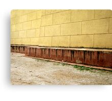 Yellow old wall Canvas Print