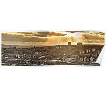 Sheffield Skyline Panorama Poster