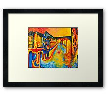 street of colours Framed Print