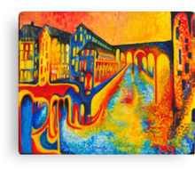 street of colours Canvas Print