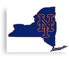 Mets Over Yankees Canvas Print