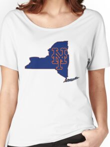 Mets Over Yankees Women's Relaxed Fit T-Shirt