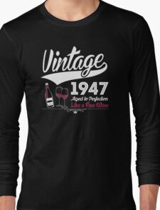Vintage 1947 Aged To Perfection Like A Fine Wine T-Shirt