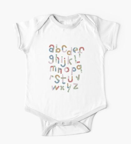 Alphabet in pieces of pattern paper Kids Clothes