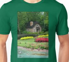 English Style Cottage With Pond In Orlando Florida Unisex T-Shirt