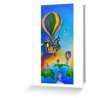 hot air balloon adventure Greeting Card