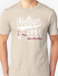 Vintage 1950 Aged To Perfection Like A Fine Wine T-Shirt