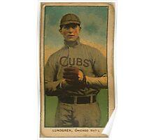 Benjamin K Edwards Collection Carl Lundgren Chicago Cubs baseball card portrait Poster
