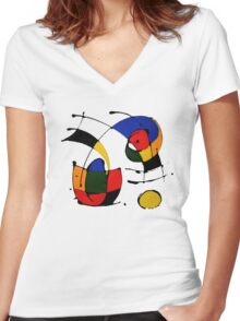 Joan Miró Women's Fitted V-Neck T-Shirt