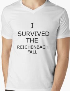 I Survived The Reichenbach Fall (no matter how barely) Mens V-Neck T-Shirt