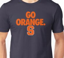GO ORANGE. S Unisex T-Shirt